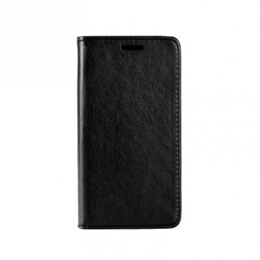 Samsung A7 (2018) / A750 Leather Magnet kaitsekott must