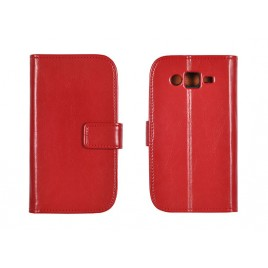 LG G4 Stylus / H635 täisnahast Book kaitsekott punane