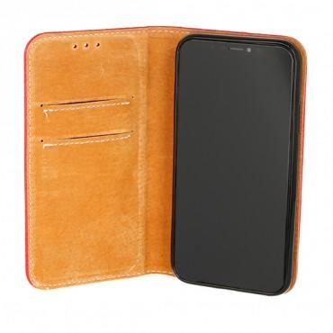 Samsung A80 / a805f täisnahast Book kaitsekott punane