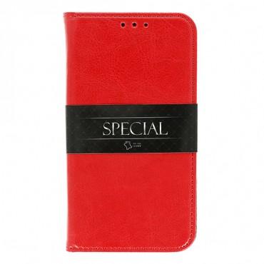 Huawei Mate 10 Lite täisnahast Book kaitsekott punane