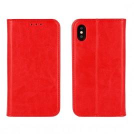 Huawei P8 Lite 2017 / P9 Lite 2017 täisnahast Book kaitsekott punane