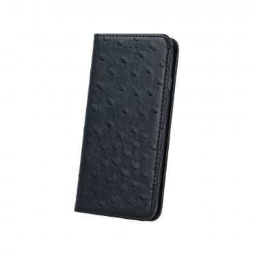 Samsung S5 / G900, G903 Leather Dots Book kaitsekott must