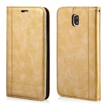 Huawei P10 Lite Leather Elegance Book kaitsekott kuldne