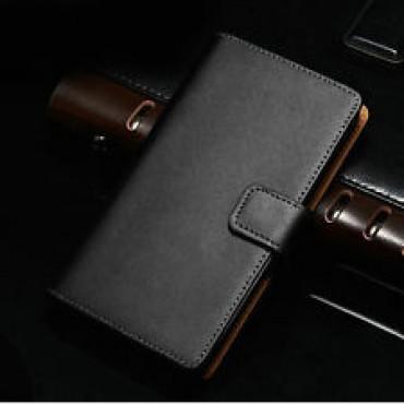 Samsung Note 3 / N7200 nahast book kaitsekott must