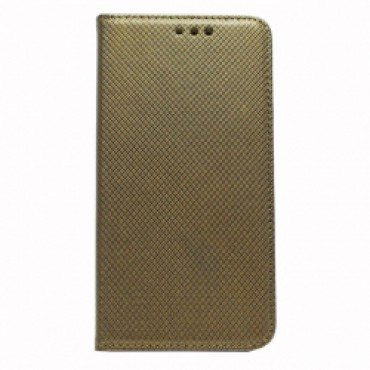 Samsung J500 Galaxy J5 Smart Magnet kaitsekott kuldne tumedam