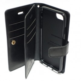 Apple Iphone 6 / 6s Mansoor Wallet kaitsekott must