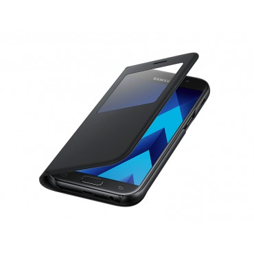 Samsung A5 (2017) / A520 Samsung S-view originaalkott EF-CA520PBEGWW helendav must