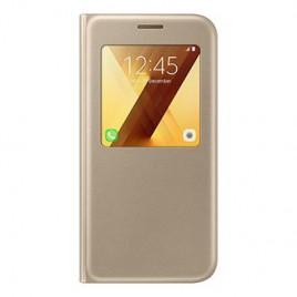 Samsung A5 (2017) / A520 Samsung S-view originaalkott EF-CA520PFEGWW helendav kuldne