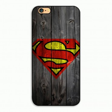 Apple Iphone 6 / 6s plastik tagakorpus Superman wood