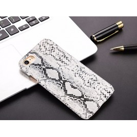 Apple Iphone 7 Plus / 8 Plus plastik tagakorpus Snake Leather valge