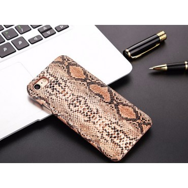 Apple Iphone 7 Plus / 8 Plus plastik tagakorpus Snake Leather pruun