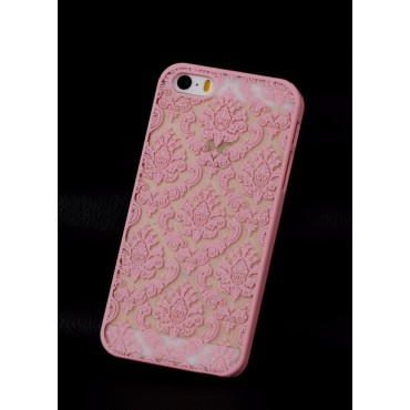 Apple Iphone 5 / 5s / SE plastik tagakorpus Vintage flowers roosa