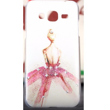 Samsung J320 / J3 (2016) plastikkaitse Fancy Girl