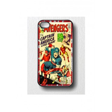 Apple Iphone 4 / 4s plastikkaitse Captain America