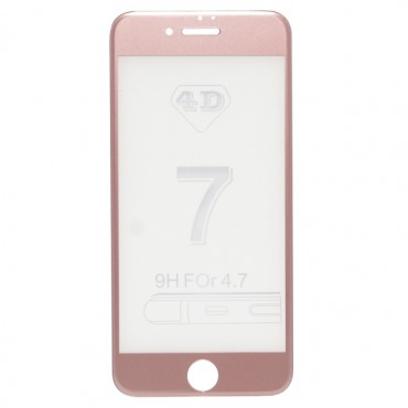 Apple Iphone 7 / 8 kumer kaitseklaas (4D Full Curved) roosa