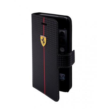 Apple Iphone 5 / 5S / SE Ferrari klapiga küljeleavanev kaitsekott FEFOCFLBKP5BL