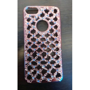 Apple Iphone 6 / 6S 3D silikoonkaitse Flower Diamond rose gold