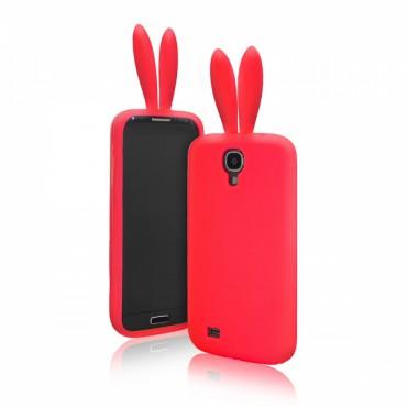 Apple Iphone 6 / 6s 3D silikoonkaitse jänesekõrvad punane
