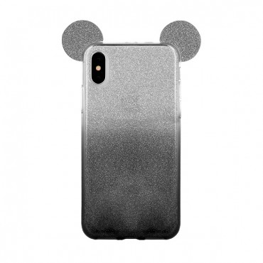 Apple Iphone 7 / 8 3D silikoonkaitse Bling Mouse must
