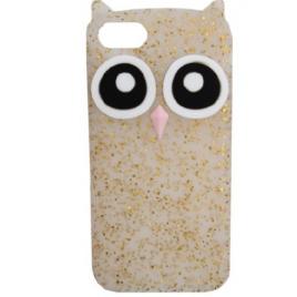 Huawei P10 Lite silikoonkaitse Owl gold shine
