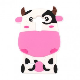 Huawei P8 Lite 2017 / P9 Lite 2017 3D silikoonkaitse Cow roosa