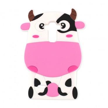 Apple Iphone 7 / 8 3D silikoonkaitse Cow roosa