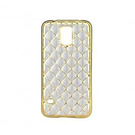 Samsung G900 Galaxy S5 / S5 Neo Silikoonkaitse Grid kuldne
