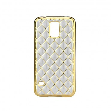 LG K10 / K420 Luxury Tepitud Silikoonkaitse kuldne