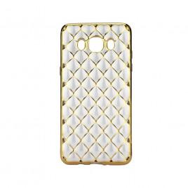 Samsung J500 Galaxy J5 Silikoonkaitse Grid kuldne