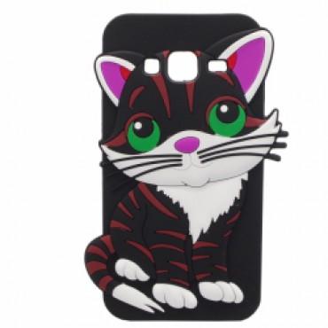 Samsung J3 (2016) / J320 3D silikoonkaitse kass must
