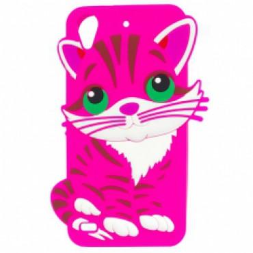 Samsung J3 (2016) / J320 3D silikoonkaitse kass roosa