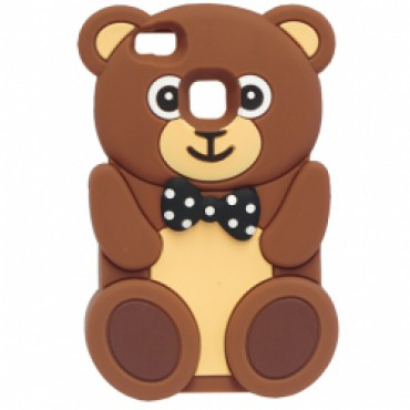 Huawei P9 Lite 3D silikoonkaitse karu pruun