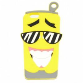 Apple Iphone 6 / 6s 3D silikoonkaitse limonaadipurk kollane