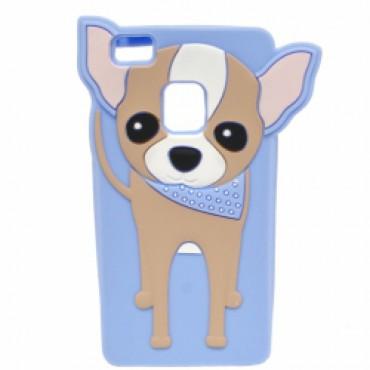 Huawei P9 Lite 3D silikoonkaitse koer sinine