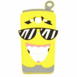 Samsung J320 / J3 (2016) 3D silikoonkaitse limonaadipurk kollane