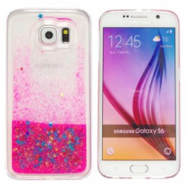 Samsung G920 Galaxy S6 3D silikoonkaitse Glitter roosa