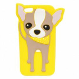 Apple Iphone 6 / 6s 3D silikoonkaitse koer kollane