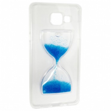 Samsung A510 / A5 2016 3D silikoonkaitse liivakell läbipaistev sinine
