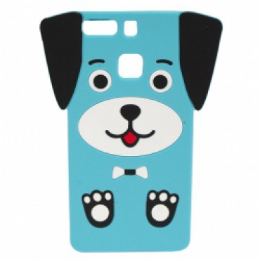 Huawei P9 Lite 3D silikoonkaitse kutsikas sinine