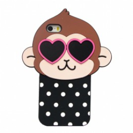 Apple Iphone 6 / 6s 3D silikoonkaitse Funny Monkey