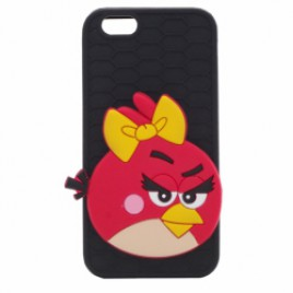 Apple Iphone 6 / 6s 3D silikoonkaitse Angry Birds Girl must