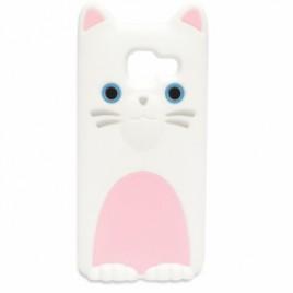 Samsung A310 / A3 2016 3D silikoonkaitse kass valge