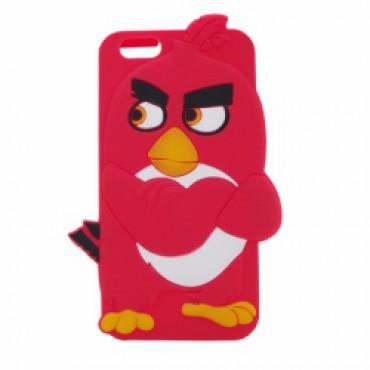 Apple Iphone 6 / 6s 3D silikoonkaitse Angry Birds punane