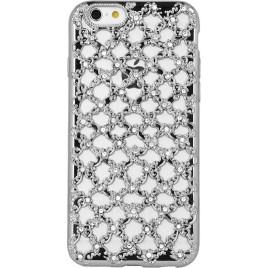 Samsung A5 (2016) / A510 3D silikoonkaitse Flower Diamond hõbedane