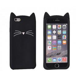 Apple Iphone 7 / 8 3D silikoonkaitse Cat black