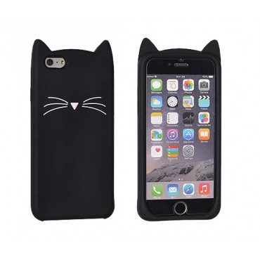 Apple Iphone 6 / 6s 3D silikoonkaitse Cat black