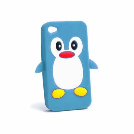 Apple Iphone 6 / 6s 3D silikoonkaitse pingviin sinine