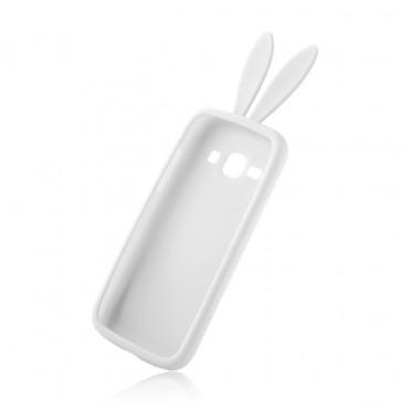 Apple Iphone 6 / 6s 3D silikoonkaitse jänesekõrvad valge