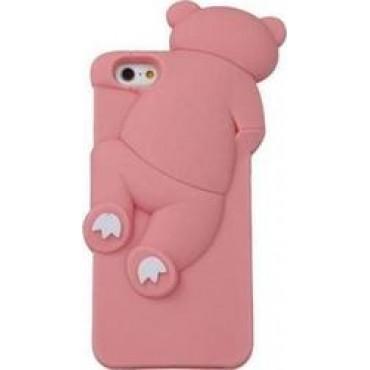 Sony Xperia M4 / M5 3D silikoonkaitse Bear roosa