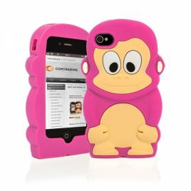 Apple Iphone 6 / 6s 3D silikoonkaitse ahv roosa